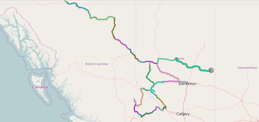 Tracks Alberta & BC