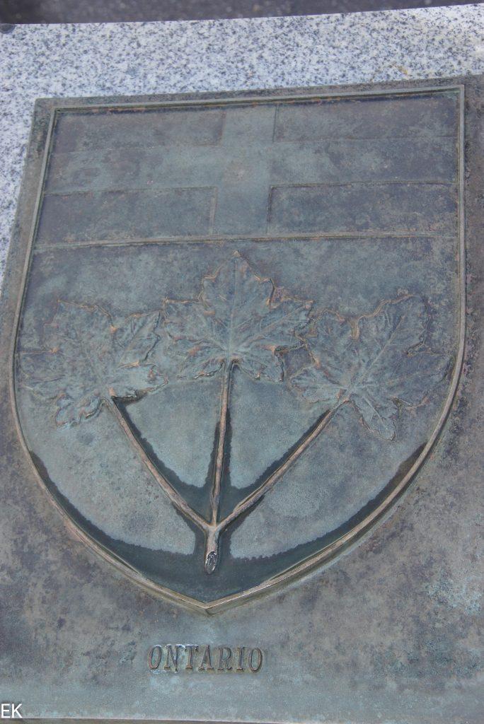 Das Wappen von Ontario