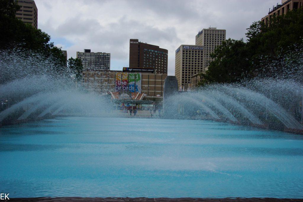 Wasserspiele vor dem Rathaus
