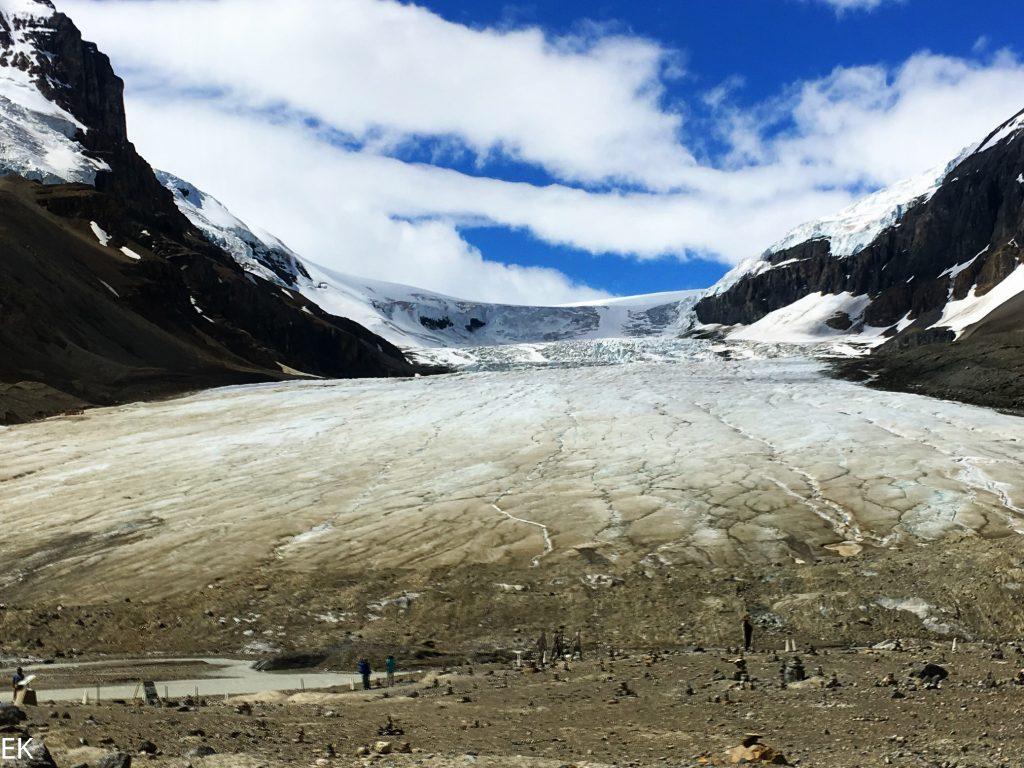 Die hauptzunge des Columbia Icefields