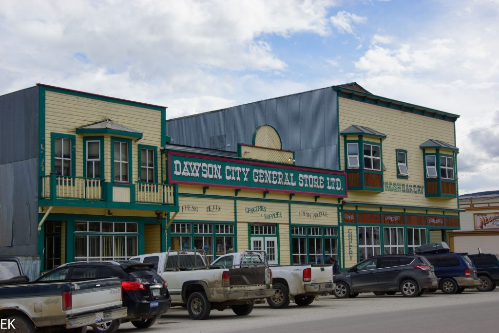 Restaurierte ale Häuse in Dawson City