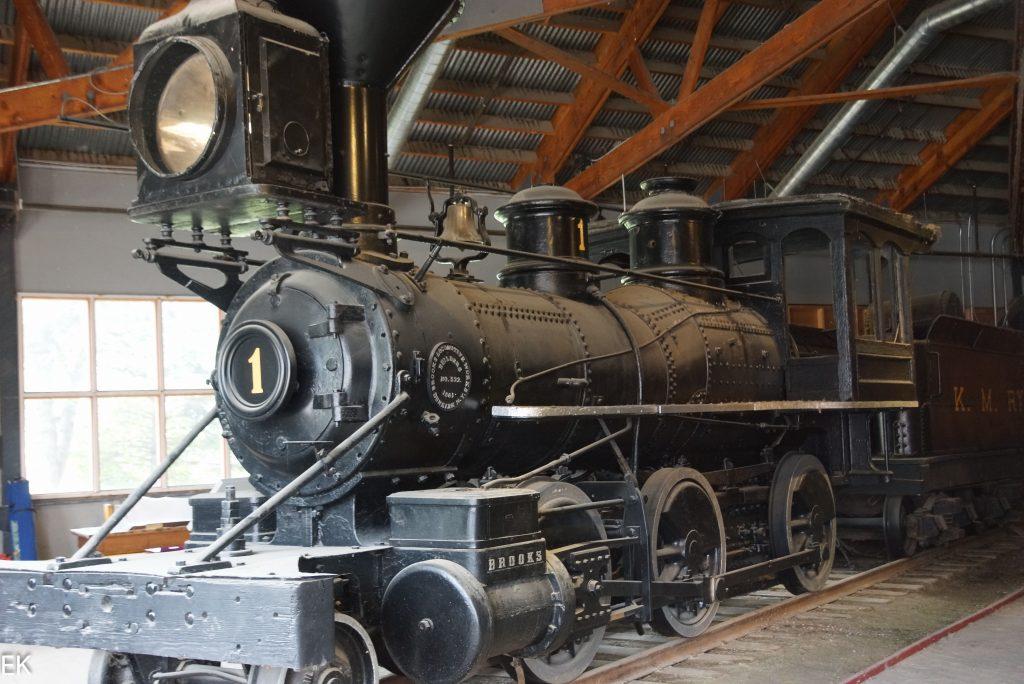 Eine der alten Dampfloks