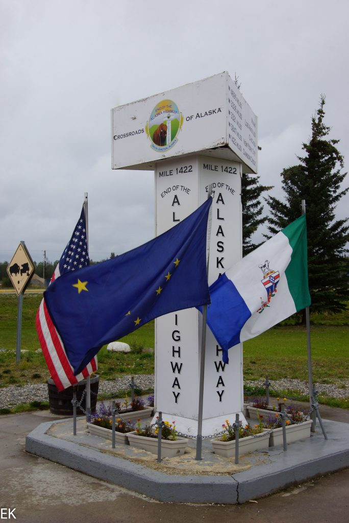 Mile 1422. Ende des Alaska Highways