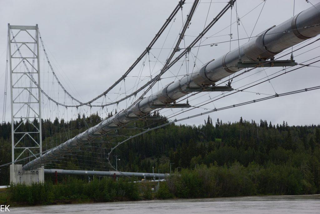 Brücke für dei Trans-Alaska Pipeline über den Tanana River