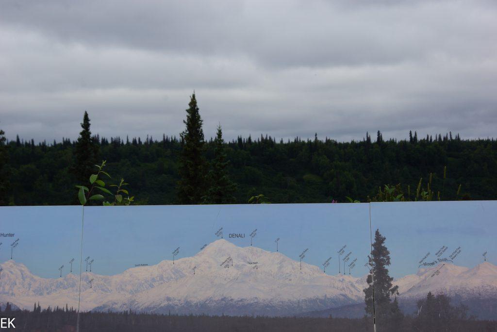 """Denali Viewpoint: Unten """"soll"""", oben """"ist"""""""