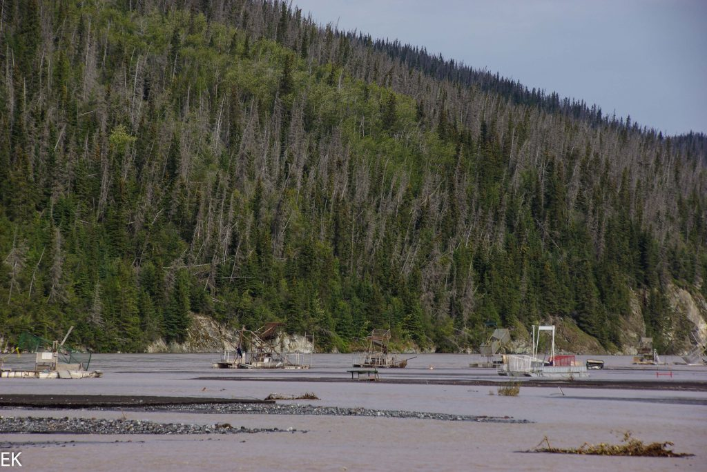 Fishwheels am Chitina River