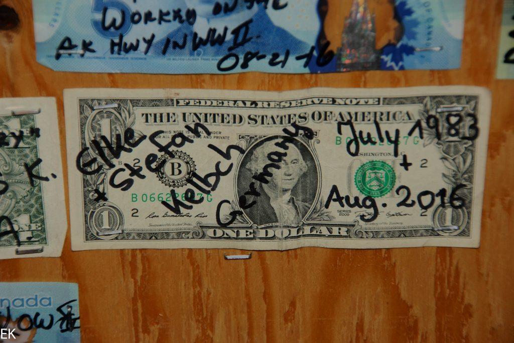 Unser Beitrag zur deco des Glacier Inn, Hyder, AK