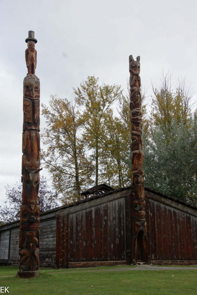 Long Hous & Totem Poles