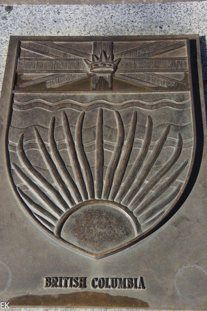 Das Wappen von British Columbia