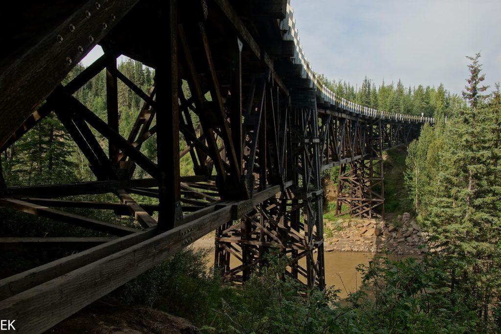 Original Holzbrücke des Alcan