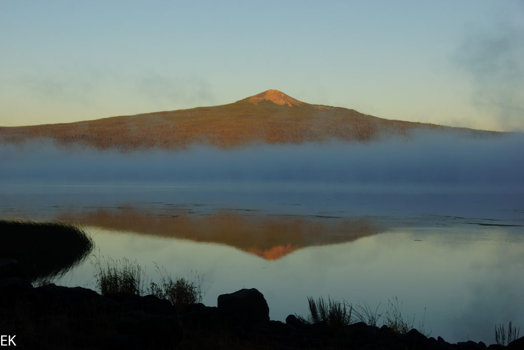 Devils Lake am Morgen