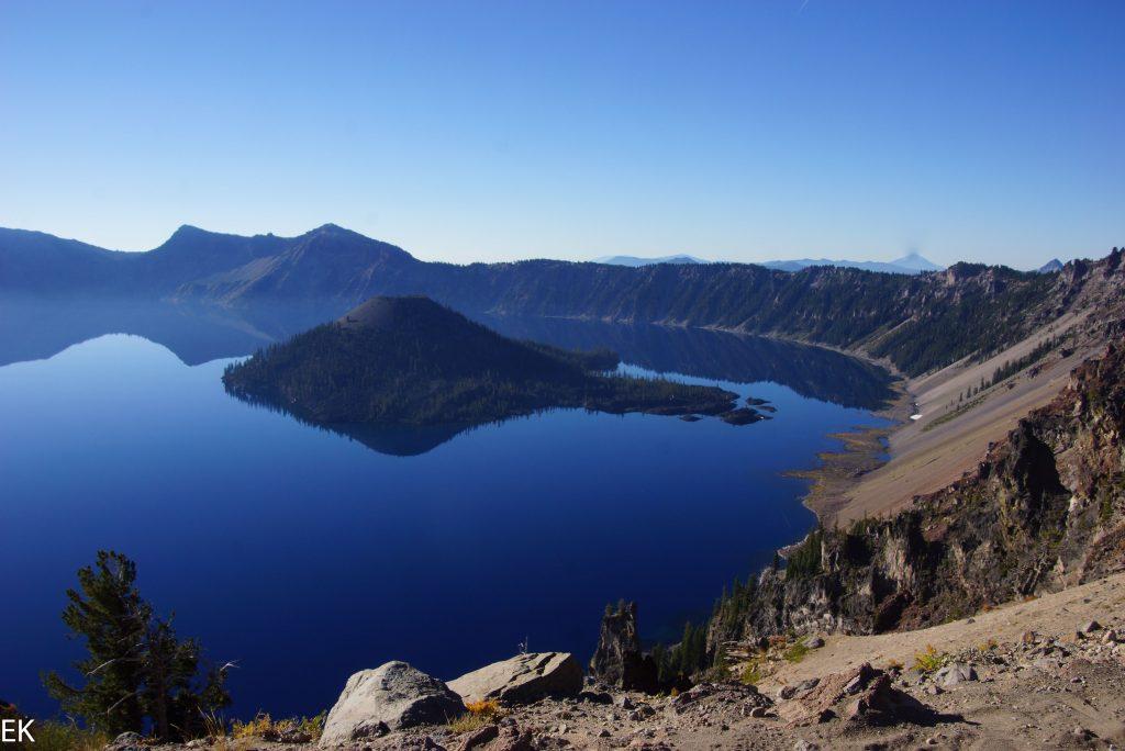 Erster Blick auf den Crater Lake