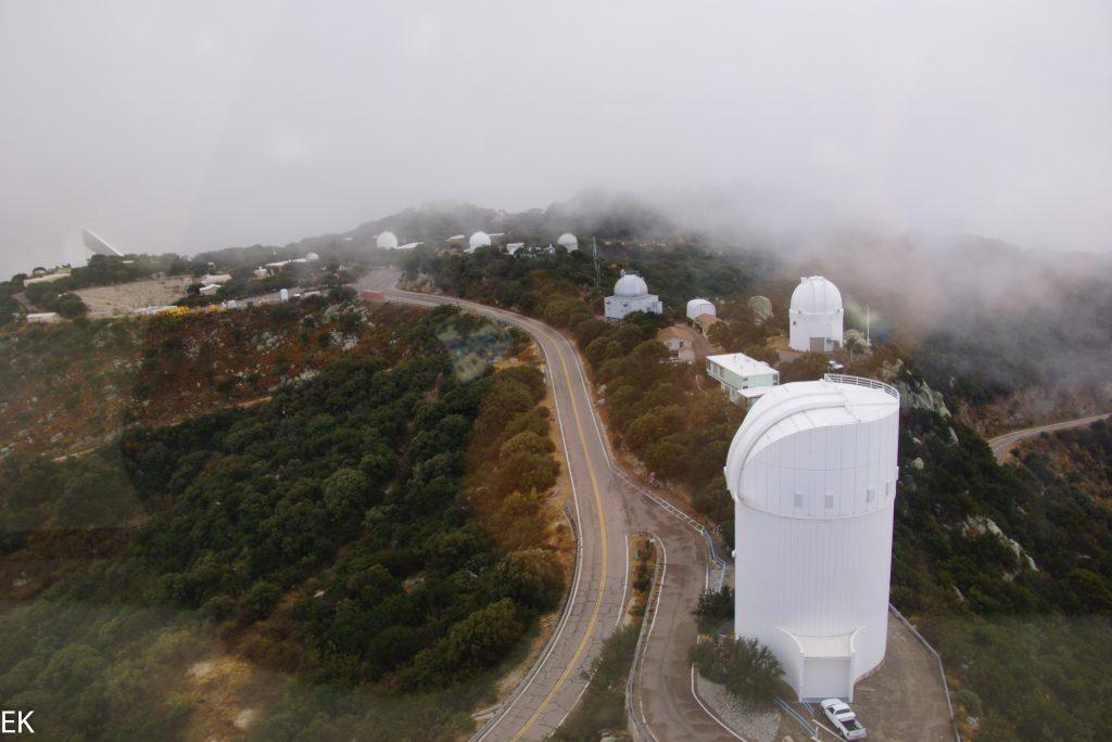 Überblick über das Gelände in kurzem Wolkenloch